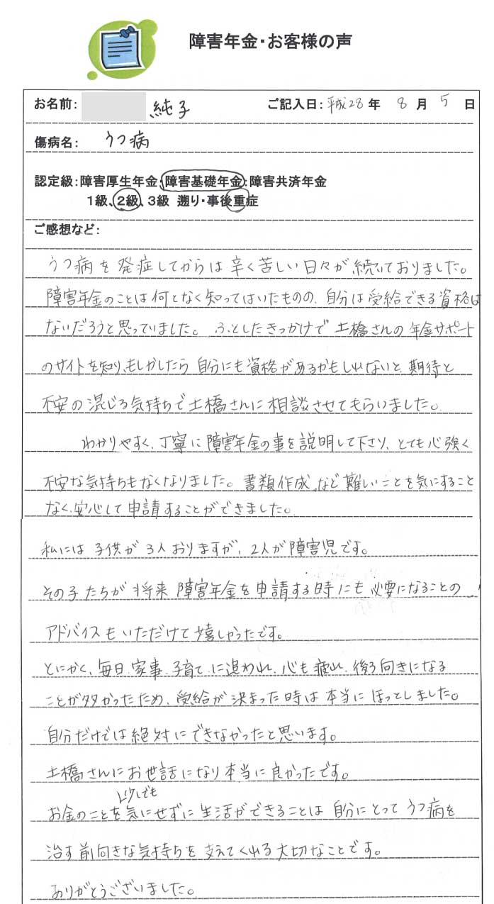 純子様のご依頼から申請までの経過