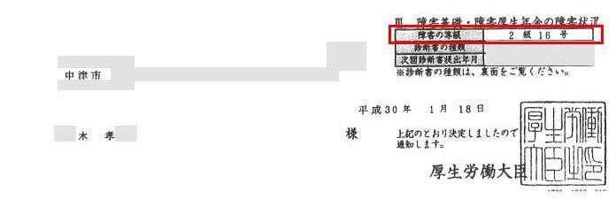 木孝様の年金証書
