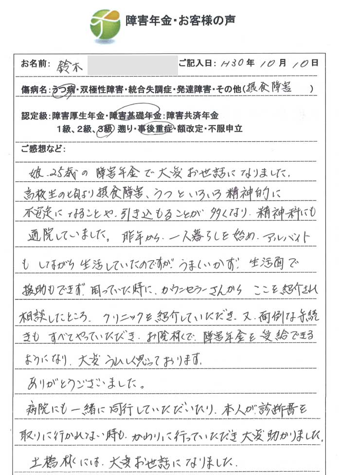 鈴木様のご依頼から申請までの経過