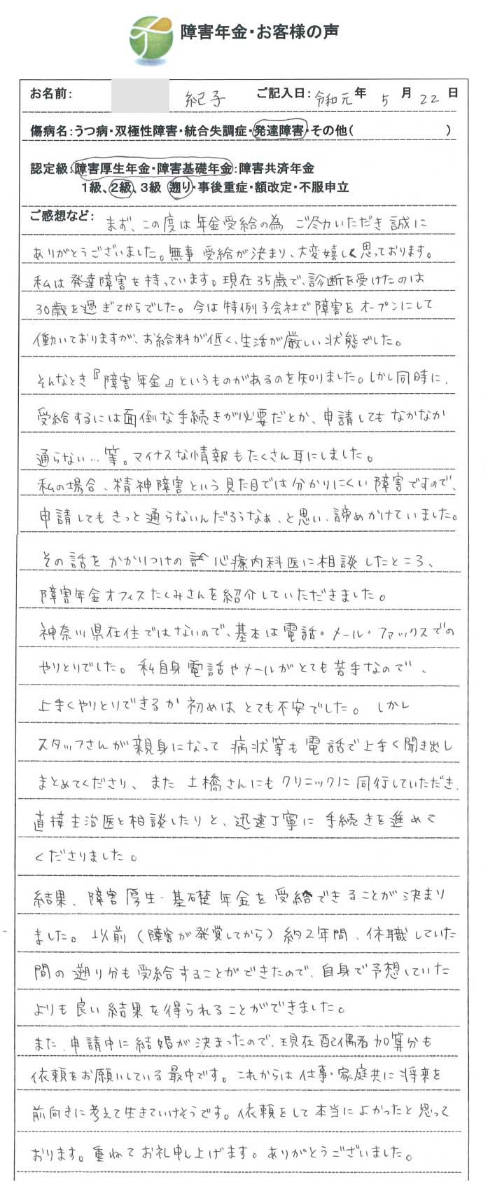 紀子様のご依頼から申請までの経過