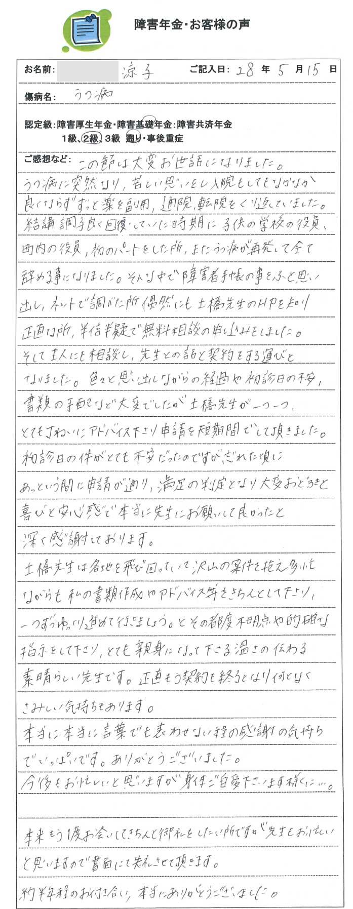 涼子様のご依頼から申請までの経過