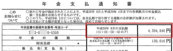 佐藤様の支払通知書