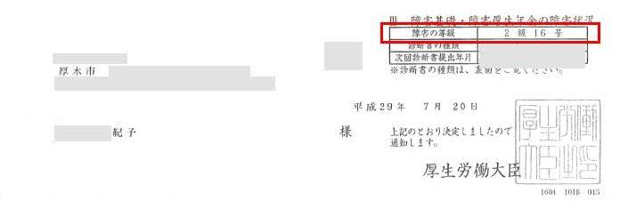 紀子様の年金証書