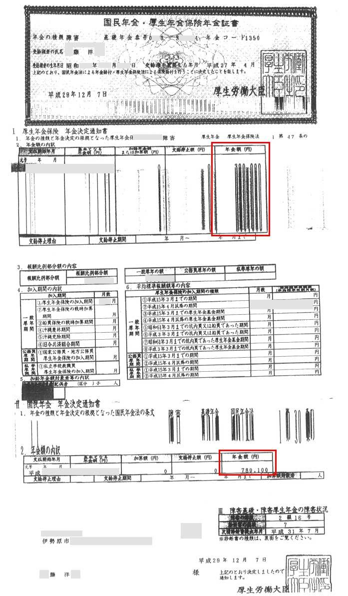 藤洋様の年金証書