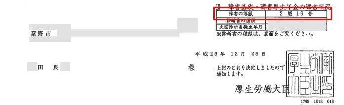田良様の年金証書