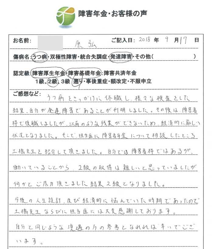 康弘様のご依頼から申請までの経過