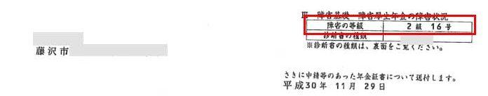 和子様の年金証書