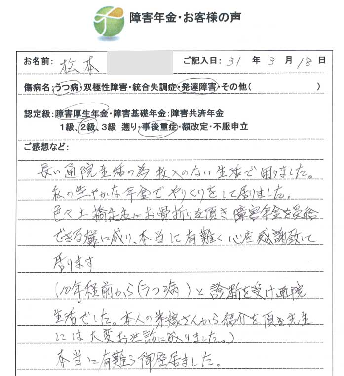松本様のご依頼から申請までの経過