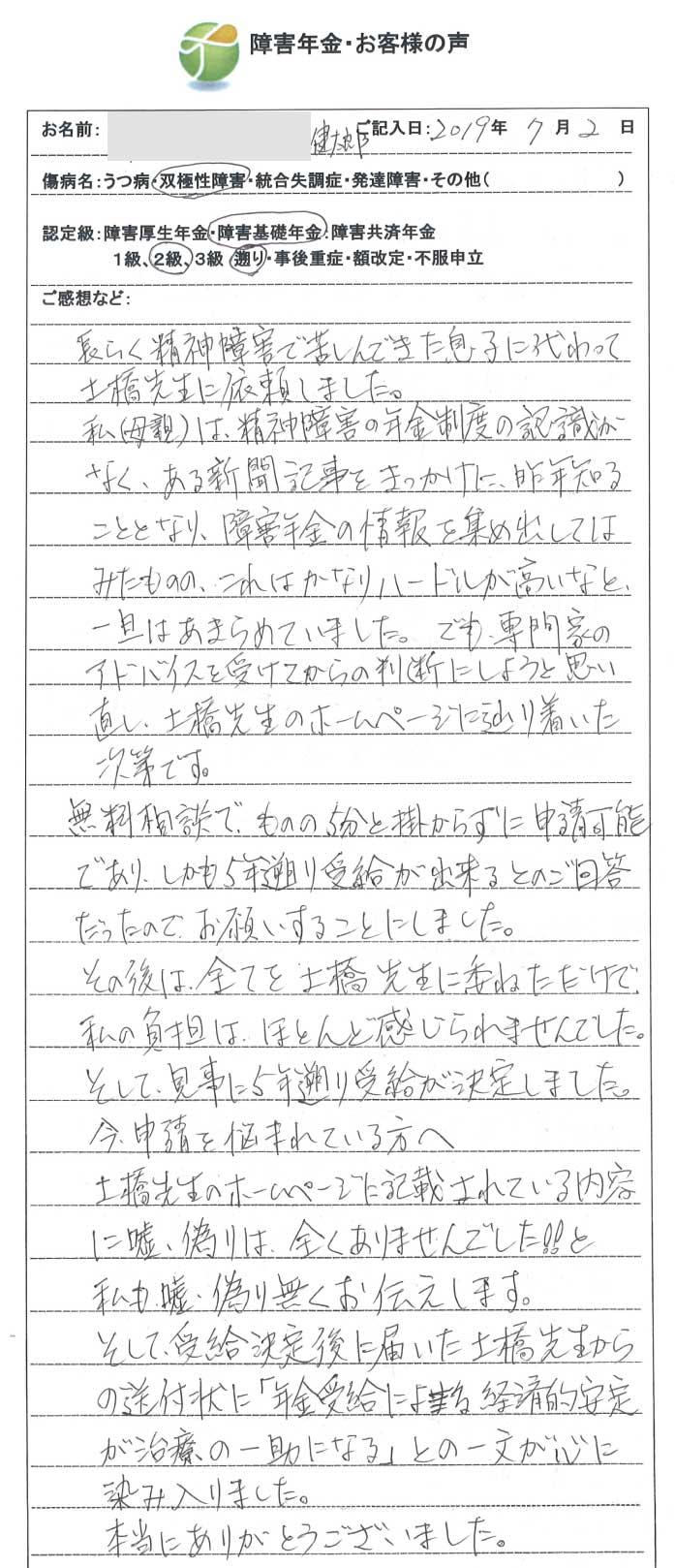 健太郎様のご依頼から申請までの経過