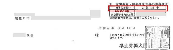 慎吾様の年金証書