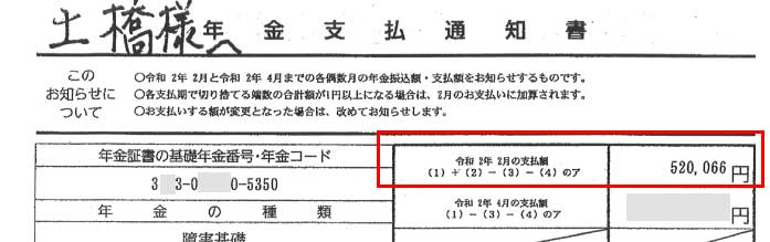 京様の支払通知書