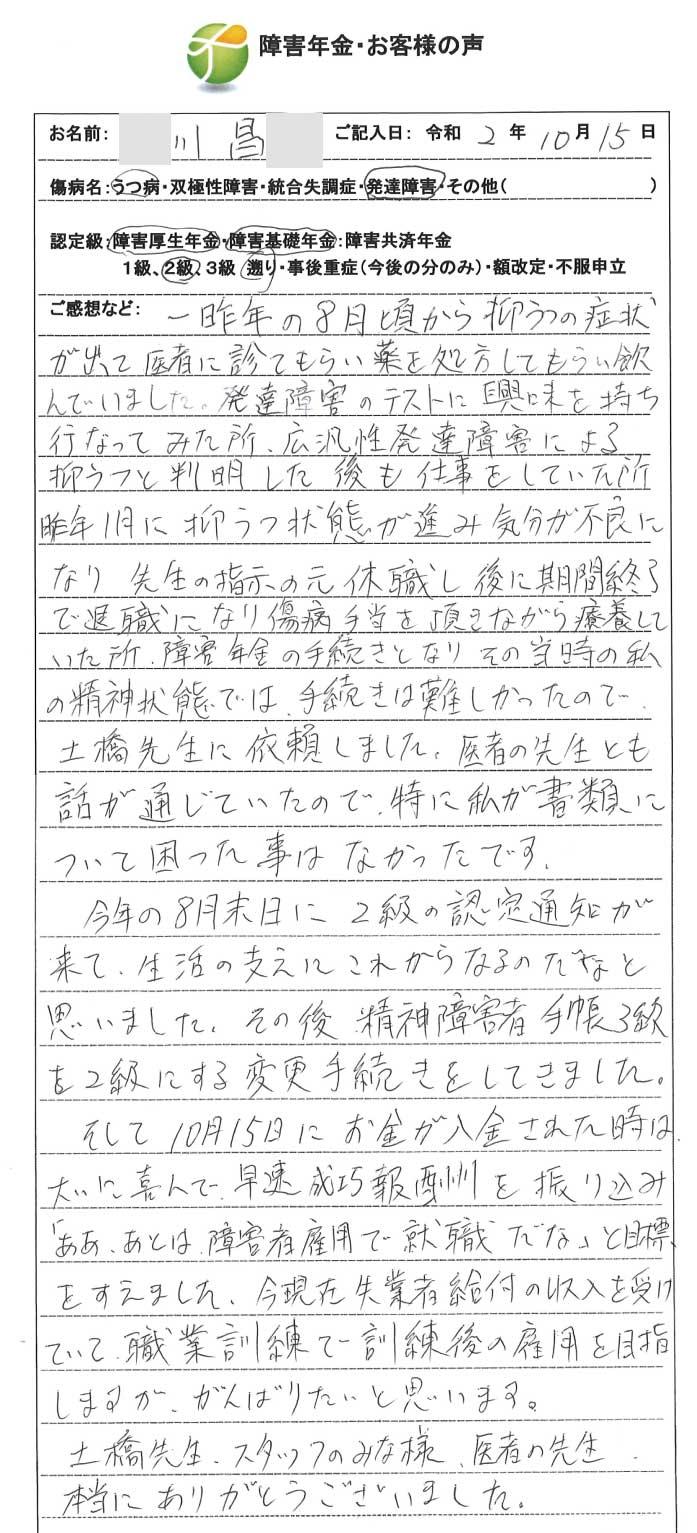 川昌様のご依頼から申請までの経過