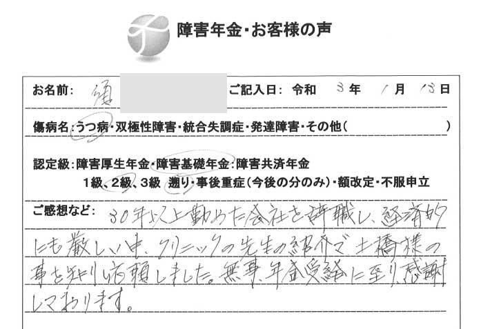 須様のご依頼から申請までの経過