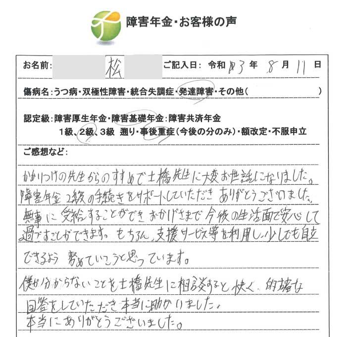 松様のご依頼から申請までの経過